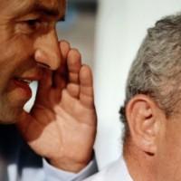 снижении слуха